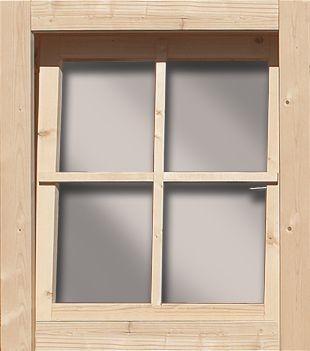 Dreh-/Kippfenster aus Echtglas 28mm