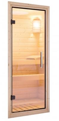 Saunatür Klarglas