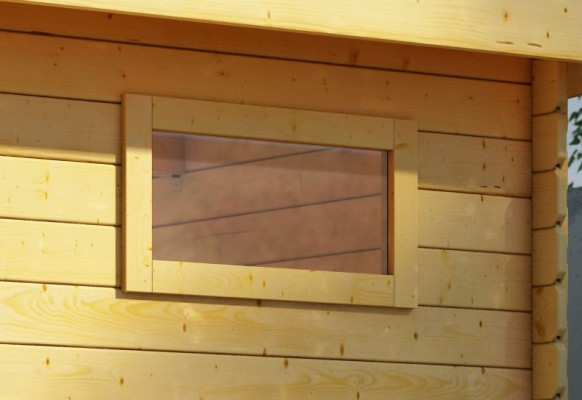 längliches feststehendes Fenster naturbelassen